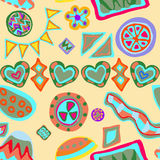 Funky seamless pattern Royalty Free Stock Photos