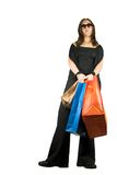 Funky shopping girl Royalty Free Stock Image