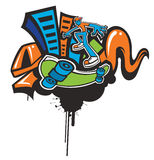 Funky skateboarding background. Stock Image