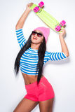 Funky skater girl. Royalty Free Stock Images