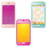 Funky Smartphones Royalty Free Stock Image