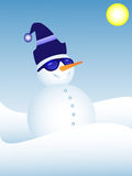Funky snowman. A smiling Snowman wearing sunglasses Stock Image