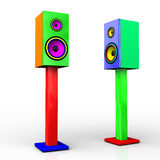 Funky speakers Royalty Free Stock Photos