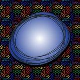Funky Speech Bubble over Rainbow Pattern Stock Photography