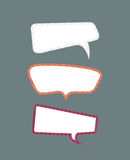 Funky Speech bubbles set. Royalty Free Stock Photos