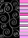 Funky spiraalvormig ontwerp Stock Afbeeldingen