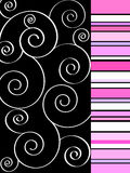Funky spiral design Stock Images