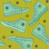 Funky sports shoes in vector Stock Photos