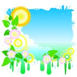 Funky spring sky Royalty Free Stock Photo