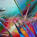 Funky Stedelijke Textuur Stock Fotografie