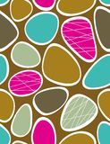 Funky stones. Seamless pattern with multicolor stained mosaic Royalty Free Stock Image