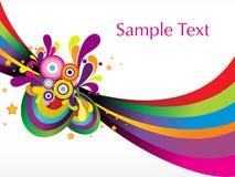 Funky stripes design vector Royalty Free Stock Photos