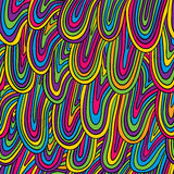 Funky style colorful seamless pattern. Stock Photos