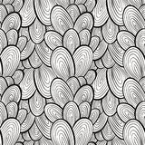 Funky style seamless pattern, monochrome, hand drawn vector back Royalty Free Stock Images