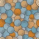 Funky style seamless pattern. Stock Image