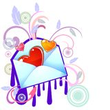 Funky styled love message Royalty Free Stock Photos