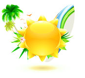 Funky summer background Stock Images
