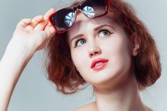 Funky summer portrait Stock Photo