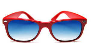 Funky sunglasses. Funky red sunglasses, isolated on white Royalty Free Stock Image