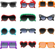 Funky sunglasses icons Royalty Free Stock Image