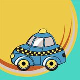 Funky taxi Stock Photography