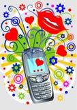 Funky telefoon Royalty-vrije Stock Foto's