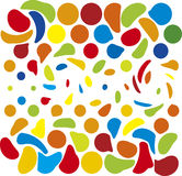 Funky theme. Colorful spots in rows Royalty Free Stock Photo