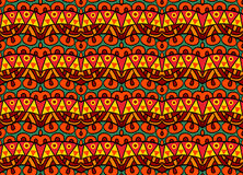Funky Tribal Pattern. Seamless geometric ethnic pattern. Abstract tribal pattern in vivid contrast colors. Fancy multicolored background ornament Royalty Free Stock Photography