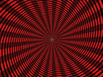 Funky twirl rays background. Black and red, funky twirl rays background Stock Images