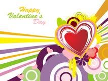 Funky valentine background Royalty Free Stock Photos