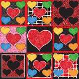 Funky Valentine Hearts Stock Photos