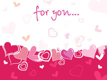 Funky valentine's card Royalty Free Stock Images