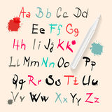 Funky Vector Hand Written Alphabet Set Royalty Free Stock Photo