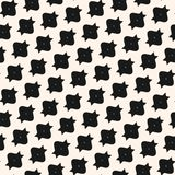 Funky vector seamless pattern with simple geometric shapes in diagonal grid. Abstract monochrome geometrical texture. Modern black and white repeat background Royalty Free Stock Image