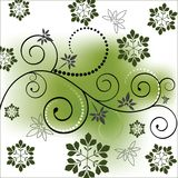 Funky vine with gradient mesh background Stock Images