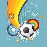 Funky voetbalontwerp Stock Afbeeldingen