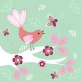 Funky vogel royalty-vrije illustratie