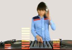 Funky vrouwelijk DJ stock foto's