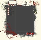 Funky web layout Stock Image