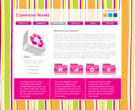 Funky website template. With 3d icons in vector format Stock Images