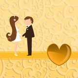 Funky wedding invitation Stock Photography