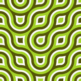 Funky Wild Circle Seamless Pattern Lime Green. A throwback to the 60's or so, this retro feeling circular ring design will have you feeling groovy in no time Stock Image