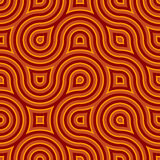 Funky Wild Circle Seamless Pattern Orange. A throwback to the 60's or so, this retro feeling circular ring design will have you feeling groovy in no time Royalty Free Stock Images