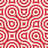 Funky Wilde Rood van het Patroon van de Cirkel Naadloze Roze Witte Stock Afbeelding