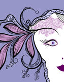 Funky woman's face Stock Images