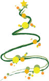 Funky Xmas Tree Stock Image