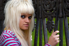 Funky young woman Royalty Free Stock Photo