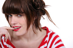 Funky young woman Royalty Free Stock Photography