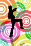 Funky Zanger royalty-vrije illustratie