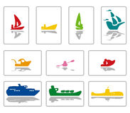 Funkyboats 1colour Lizenzfreie Stockfotografie